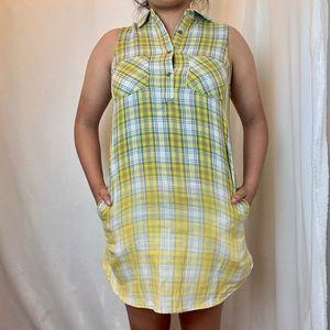 Women's Casual Sleeveless Plaid Ombre Dress